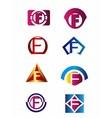 Set of letter F logo Branding Identity Corporate v vector image vector image