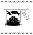 Signboard of tasty cakes for holidays and parties vector image