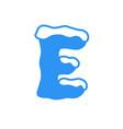 snow letter logo e vector image vector image