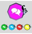 Speech bubble icons Think cloud symbols Set vector image vector image