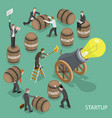 startup flat isometric low poly concept vector image vector image