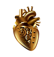 Steampunk human heart isolated vector image