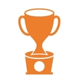trophy award gold icon vector image vector image