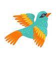 tropical bird beautiful birdie with bright vector image vector image