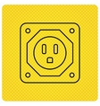USA socket icon Electricity power adapter vector image vector image