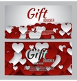 Valentine s Day Heart Symbol Gift Card Love and vector image vector image