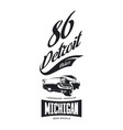vintage american vehicle t-shirt logo vector image vector image