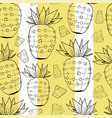 vintage pineapple pattern print with stripes vector image vector image