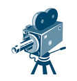 Vintage Video Movie Camera Retro vector image vector image
