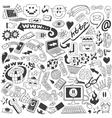 web doodles vector image vector image