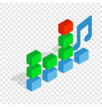 equalizer scale isometric icon vector image