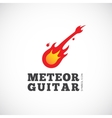 Meteor Guitar Concept Symbol Icon or Logo Template vector image
