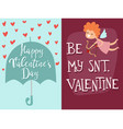 happy valentines day angel greeting card vector image