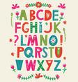 abc alphabet vector image vector image