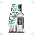 alcohol drink vodka vector image vector image