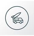artillery icon line symbol premium quality vector image vector image