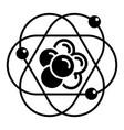 atom molecule icon simple style vector image vector image