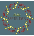 Autumn round frame with text vector image