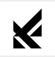 av va initials geometric letter company logo vector image vector image