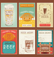 beer posters set vector image vector image