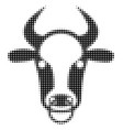 bull ring halftone icon vector image