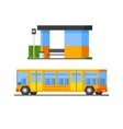 Bus And Public Station vector image
