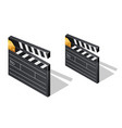 cinema film clapperboards isometric icons vector image