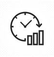 clock graph icon vector image vector image