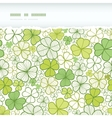 Clover line art horizontal torn seamless pattern vector image vector image