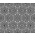 Crochet hexagons seamless pattern vector image