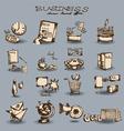 doodle business set vector image vector image