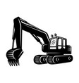 excavator silhouette object or element vector image