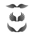 falcon wing icon template vector image vector image