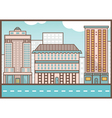 Flat of street landscape Homes and road vector image vector image
