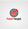 food target with red arrow on center logo icon vector image vector image