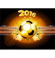 Football soccer glowing background 2016 vector image vector image