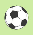 football soccerball hand drawn style doodle vector image