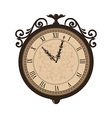 Forging retro clock with vignette arrows isolated vector image vector image