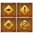 Four different signs vector image