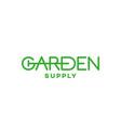 garden supply logo vector image vector image