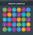 healthy lifestyle colorful icons vector image vector image