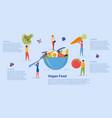 healthy vegan food and organic vegetarian menu vector image