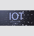 internet things iot devices vector image vector image