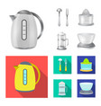 isolated object of kitchen and cook logo set of vector image