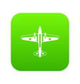 military aircraft icon digital green vector image vector image