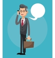 Mobile people cartoon design vector image vector image