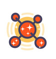molecule icon in flat style with outline vector image vector image