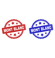 mont blanc rosette seals using corroded surface vector image vector image
