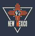 new mexico t-shirt design print typography vector image vector image