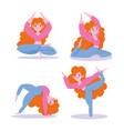 online yoga online yoga girl doing yoga vector image
